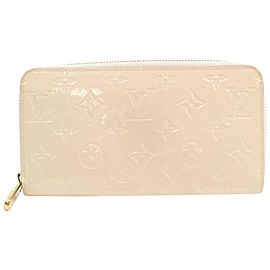 Louis Vuitton Beige Zippy Monogram Vernis Long Zip Around 871203 Wallet