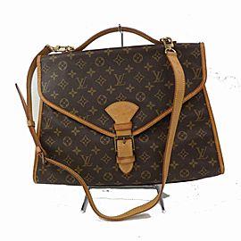 Louis Vuitton Bel Air Beverly Monogram Ivy 2way 871560 Brown Coated Canvas Messenger Bag