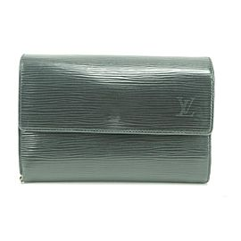 Louis Vuitton 28LK0109 Black Epi Noir Trifold Etui Papier Wallet