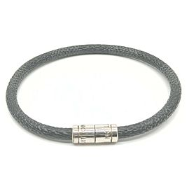 Louis Vuitton Black Damier Graphite Keep It Bracelet Cuff Banlge 861780