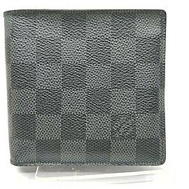 Louis Vuitton Damier Graphite Portefeiulle Marco Men's Wallet Slender Florin 861255