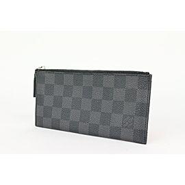 Louis Vuitton Black Damier Graphite Zip Pouch Toiletry Case 101lvs72