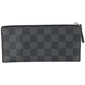 Louis Vuitton Damier Graphite Zip Pouch Toiletry Case Wallet Insert 77lvs630