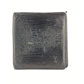 Louis Vuitton Black Epi Bifold Men's Wallet Marco Florin Slender 14LVL1125
