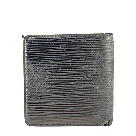 Louis Vuitton Black Epi Bifold Men's Wallet Marco Florin Slender 6LVS78