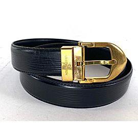 Louis Vuitton Black Epi Ceinture Belt 6la529