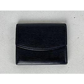 Louis Vuitton Black Epi Leather Coin Purse Wallet Pouch 2lv62