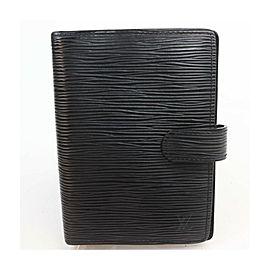 Louis Vuitton Black Epi Leather Noir Small Ring Agenda PM Diary Cover 863314