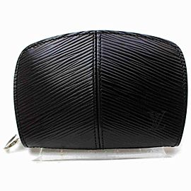 Louis Vuitton Black Epi Leather Small Demi Lune Portefeuille Coin Purse 860955