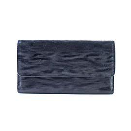 Louis Vuitton Black Sarah Epi Leather Trifold 14lr0621 Wallet