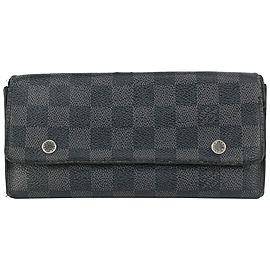 Louis Vuitton Damier Graphite Snap Long Wallet 89lvs71