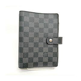 Louis Vuitton Damier Graphite Medium Ring Agenda MM Diary Cover 863230