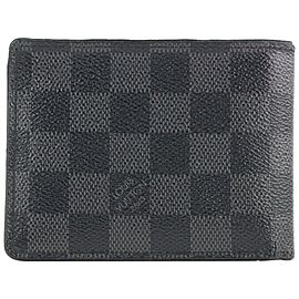 Louis Vuitton Damier Graphite Multiple Florin Slender Men's Bifold Wallet 121lvs429