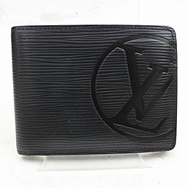 Louis Vuitton Black Epi Portefeuille Multiple Bifold Wallet 871512
