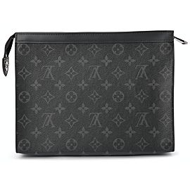 Louis Vuitton Black Monogram Eclipse Pochette Voyage MM Clutch 862130