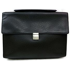 Louis Vuitton Black Taiga Porte Angara Document Attache Briefcase 871866