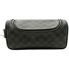 Louis Vuitton Black Damier Graphite Toiletry Pouch Make Up Pouch 862014
