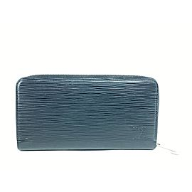 Louis Vuitton Black Epi Noir Long Zippy Wallet 9lva623