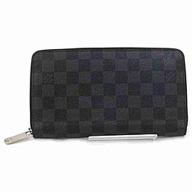 Louis Vuitton Damier Graphite Zippy Organizer Long Zip Around Wallet Large 860230