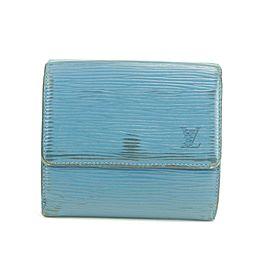 Louis Vuitton 19LK0110 Blue Epi Toledo Trifold Compact Elise Wallet