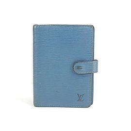 Louis Vuitton 21LK0121 Blue Epi Toledo Agenda PM Small Ring Cover