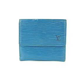 Louis Vuitton Blue Epi Leather Elise Compact Wallet with Box 16LVA1116