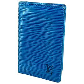 Louis Vuitton Blue Epi Toledo Card Case Holder 15LVA615