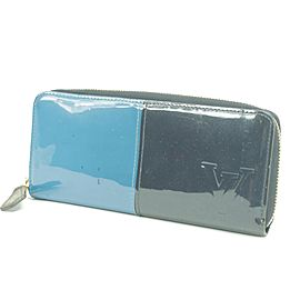 Louis Vuitton Zippy Wallet Split Vernis Monogram Blue Limited Edition 49LK0109