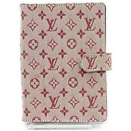 Louis Vuitton R20910 Bordeaux Monogram Mini Lin Small Ring Agenda PM 861224