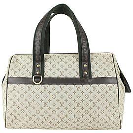 Louis Vuitton Olive Monogram Khaki Josephine GM Speedy Boston Bag 824lv47