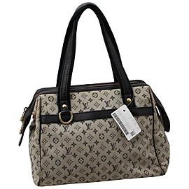 Louis Vuitton Navy Monogram Mini Lin Josephine PM Speedy Boston Bag 861950