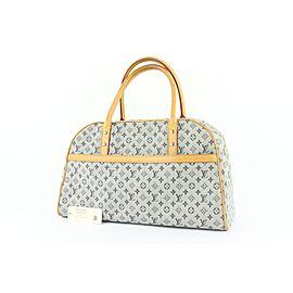 Louis Vuitton Navy Monogram Mini Lin Marie Boston Bag