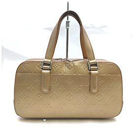 Louis Vuitton Matte Gold Monogram Vernis Mat Shelton Boston Bag 861529