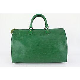 Louis Vuitton Green Epi Leather Borneo Speedy 35 Boston Bag 820lv99