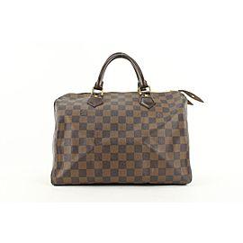 Louis Vuitton Damier Ebene Speedy 30 Boston Bag 377lvs525