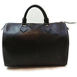 Louis Vuitton Black Epi Leather Noir Speedy 30 Boston Bag 859102