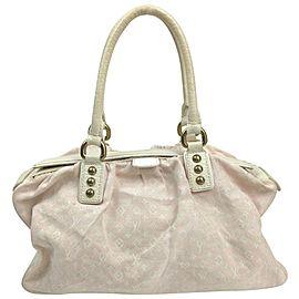 Louis Vuitton Pink Monogram Mini Lin Trapeze GM Speedy Boston Bag 862977