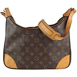 Louis Vuitton Monogram Boulogne Zip Hobo Shoulder Bag 7LVS1210