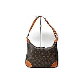 Louis Vuitton Boulogne Hobo Monogram Zip 871943 Brown Coated Canvas Shoulder Bag