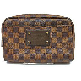 Louis Vuitton Damier Ebene Brooklyn Bumbag Waist Pouch Fanny Pack Belt Bag 862883