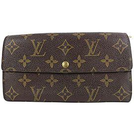 Louis Vuitton Monogram Porte Tresor Sarah Long Wallet 12lvs18