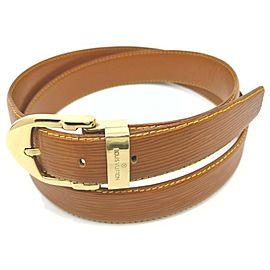 Louis Vuitton 110/44 Brown x Gold Epi Leather Ceinture Belt 861527