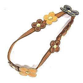 Louis Vuitton 238940 Monogram Vernis Flour Bracelet Wrap Band St Flower
