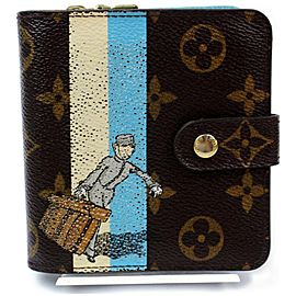 Louis Vuitton Compact Zip Wallet Bellboy Groom Monogram 872483