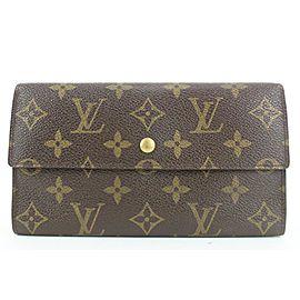 Louis Vuitton Monogram Porte Tresor Sarah Long Wallet 16lvs113