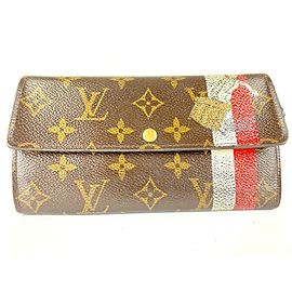 Louis Vuitton Rare Groom Bellboy Porte Tresor Sarah Long Wallet 6LVa1117
