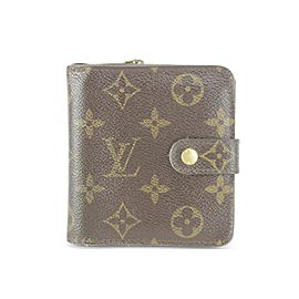 Louis Vuitton Monogram Compact Snap Wallet 1LK1212