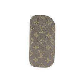 Louis Vuitton Brown Monogram Eyeglasses Case Etui A Lunettes 1lk1221 Wallet