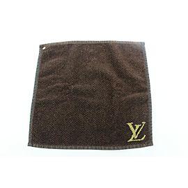 Louis Vuitton Brown Monogram LV Golf Hand Towel 724lvs323