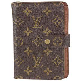 Louis Vuitton Monogram Papier Snap Zip Wallet 111lvs76